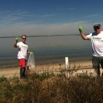 cleanup along the bay