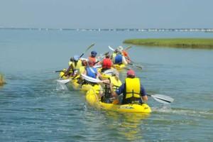 kayaking on the Barnegat Bay