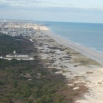 Barrier island aerial view
